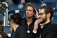 Camille Lacourt<br /> Paris Saint-Germain's Brazilian forward Neymar (C), flanked by Paris Saint Germain's (PSG) Qatari president Nasser Al-Khelaifi (L), waves to the crowd during his presentation to the fans at the Parc des Princes stadium in Paris, on August 5, 2017. Brazil superstar Neymar will watch from the stands as Paris Saint-Germain open their season on August 5, 2017, but the French club have already clawed back around a million euros on their world record investment. Neymar, who signed from Barcelona for a mind-boggling 222 million euros ($264 million), is presented to the PSG support prior to his new team's first game of the Ligue 1 campaign against promoted Amiens. # LES PEOPLE AU MATCH DE FOOT PSG VS AMIENS