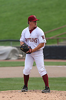Wisconsin Timber Rattlers relief pitcher Kent Hasler (36) on the mound during a game against the Cedar Rapids Kernels on September 8, 2021 at Neuroscience Group Field at Fox Cities Stadium in Grand Chute, Wisconsin.  (Brad Krause/Four Seam Images)