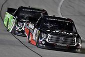 #18: Harrison Burton, Kyle Busch Motorsports, Toyota Tundra Safelite AutoGlass and #17: Tyler Ankrum, DGR-Crosley, Toyota Tundra RAILBLAZA