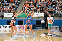 6th June 2021; Ken Rosewall Arena, Sydney, New South Wales, Australia; Australian Suncorp Super Netball, New South Wales, NSW Swifts versus Giants Netball; Maddy Proud of NSW Swifts passes the ball