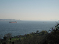 Ships on the Bosphorus Sea