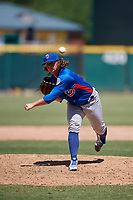 Tennessee Smokies relief pitcher Wyatt Short (2) during a Southern League game against the Jacksonville Jumbo Shrimp on April 29, 2019 at Baseball Grounds of Jacksonville in Jacksonville, Florida.  Tennessee defeated Jacksonville 4-1.  (Mike Janes/Four Seam Images)