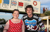 Lakeside Hammers special guest for the evening with Adam Ellis - Lakeside Hammers vs Wolverhampton Wolves, Elite League Speedway at the Arena Essex Raceway, Pufleet - 04/07/14 - MANDATORY CREDIT: Rob Newell/TGSPHOTO - Self billing applies where appropriate - 0845 094 6026 - contact@tgsphoto.co.uk - NO UNPAID USE