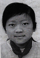 Zhang Yu Mei, 13 who went missing in Kunming city Feb 9th 2009.  Girls in China are increasingly targeted and stolen as there is a shortage of wives as the gender imbalance widens with 120 boys for every 100 girls..PHOTO BY SINOPIX