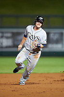Peoria Javelinas Nick Ciuffo (13), of the Tampa Bay Rays organization, during a game against the Salt River Rafters on October 11, 2016 at Salt River Fields at Talking Stick in Scottsdale, Arizona.  The game ended in a 7-7 tie after eleven innings.  (Mike Janes/Four Seam Images)