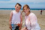 Shay Kelly with his granny Mary O'Grady enjoying Banna beach on Sunday.