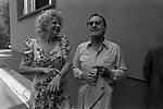 ALBERTO SORDI CON SANDRA MILO<br /> ROMA 1982