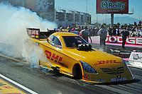 Oct. 30, 2011; Las Vegas, NV, USA: NHRA funny car driver Jeff Arend during the Big O Tires Nationals at The Strip at Las Vegas Motor Speedway. Mandatory Credit: Mark J. Rebilas-