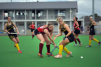 Action from the women's premier one Wellington Hockey match between Dalefield and Hutt United at Clareville Twin Turfs in Carterton, New Zealand on Saturday, 4 July 2020. Photo: Dave Lintott / lintottphoto.co.nz