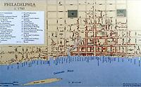 Utopia:  Philadelphia map, c. 1760.