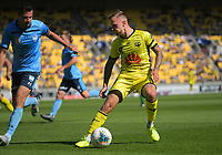 David Ball in action during the A-League football match between Wellington Phoenix and Sydney FC at Sky Stadium in Wellington, New Zealand on Saturday, 21 December 2019. Photo: Dave Lintott / lintottphoto.co.nz
