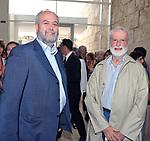 UMBETO CROPPI E EUGENIO SCALFARI<br /> MOSTRA TULLIO PERICOLI     ARA PACIS ROMA 2010