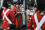 Beating the Bounds at St Botolph without Aldgate London. Ward of Portsoken City of London 2011. The Lord Mayor of the City of London Alderman Michael Bear with the Portsoken Volunteers at St Botolph without Aldgate church.