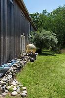 Artwork in the backyard