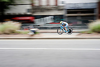 Ann-sophie Duyck (BEL) speeding along on her perfectly themed mistral blue Ridley Dean<br /> <br /> Women TT<br /> UCI Road World Championships / Richmond 2015