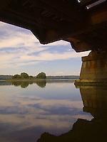 River seen through railroad overpass<br />