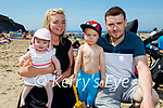 Enjoying the beach in Ballybunion on Sunday, l to r: Abbie, Stacy, Christy and Callum McCarthy.