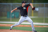 Miami Marlins Jake Esch (31) during a minor league Spring Training intrasquad game on March 31, 2016 at Roger Dean Sports Complex in Jupiter, Florida.  (Mike Janes/Four Seam Images)