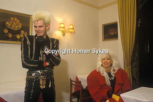 Sigue Sigue Sputnik.Neal Whitmore, known as Neal X and Jane Farrimond aka Yana Yaya.  Punk band 1980s Bed and Breakfast hotel Newcastle Upon Tyne. UK
