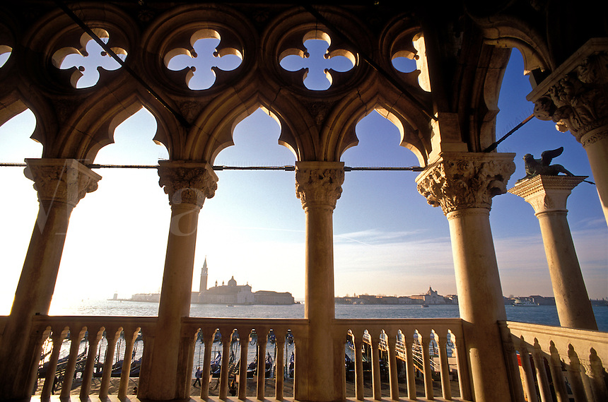 Italy, Venice. View of San Giorgio Maggiore from the Doge's Palace