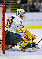 14 November 2008: University of Vermont Catamount goaltender Rob Madore, a Freshman from Venetia, PA, in action against the Northeastern University Huskies at Gutterson Fieldhouse in Burlington, Vermont. The Catamounts fell to the Huskies 5-3...Mandatory Photo Credit: Ed Wolfstein Photo