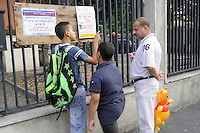 - Milano, primo giorno di lezione presso la scuola elementare multietnica di via Paravia, protesta dei genitori<br />