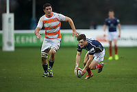 George Horne of London Scottish Football Club during the Greene King IPA Championship match between London Scottish Football Club and Ealing Trailfinders at Richmond Athletic Ground, Richmond, United Kingdom on 26 December 2015. Photo by Alan  Stanford / PRiME Media Images