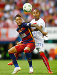 FC Barcelona's Neymar Santos Jr (l) and Sevilla CF's Mariano Ferreira during Spanish Kings Cup Final match. May 22,2016. (ALTERPHOTOS/Acero)