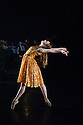"""London, UK. 19.09.2014. Constella Ballet & Orchestra's Triple Bill premieres in the Lilian Baylis Studio, at Sadler's Wells. Nancy Osbaldeston, (winner of ENB's Emerging Dancer Competition 2013) dances to Copland's iconic work """"Appalachian Spring"""", in a solo choreographed for her by English National Ballet's Associate Artist George Willamson.  Photograph © Jane Hobson."""