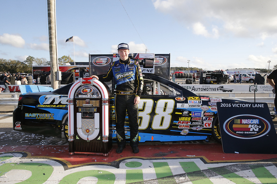 MOBILE, AL - MARCH 13:  The NASCAR K&N Pro Series East Mobile 150 on March 13, 2016 in Mobile, Alabama.  (Photo by Jonathan Bachman/NASCAR via Getty Images)