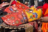 Bhaktapur, Nepal.  Hindu Ceremonial Mask.