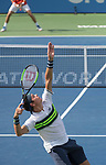 August 2,2017:  Milos Raonic (CAN) defeated Nicolas Mahut (FRA) 7-6, 7-6, at the Citi Open being played at Rock Creek Park Tennis Center in Washington, DC, .  ©Leslie Billman/Tennisclix/CSM