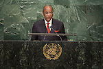 Guinea<br /> H.E. Mr. Alpha Condé<br /> President<br /> <br /> <br /> General Assembly Seventy-first session, 17th plenary meeting<br /> General Debate