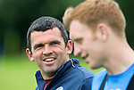 St Johnstone Pre-Season Training in Northern Ireland.. 08.07.16<br />Assistant Manager Callum Davidson talks with Liam Craig<br />Picture by Graeme Hart.<br />Copyright Perthshire Picture Agency<br />Tel: 01738 623350  Mobile: 07990 594431