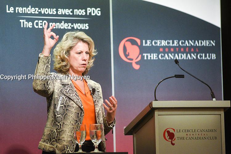 Allocution de Dawn Farrell, Presidente et chef de la direction de TransAlta Corporation devant le Cercle canadien de Montreal, lundi 6 fevrier 2017.<br /> <br /> <br /> PHOTO : Philippe Manh Nguyen - Agence Quebec Presse