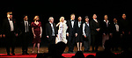 "Michael Mulheren, Nick Choksi, Holley Fain, Henry Winkler, Anne Heche, Alec Baldwin, Julie Halston, Dan Butler, Richard Kind, Paul Alexander Nolan with castduring the Roundabout Theatre Company One-Night Only Benefit Reading Curtain Call for  ""Twentieth Century"" at Studio 54 on April 29, 2019 in New York City."