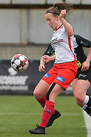 Geena Lisa Buyle (13) of Zulte Waregem  pictured during a female soccer game between SV Zulte - Waregem and Eendracht Aalst on the 9 th matchday in play off 2 of the 2020 - 2021 season of Belgian Scooore Womens Super League , saturday 22 nd of May 2021  in Zulte , Belgium . PHOTO SPORTPIX.BE   SPP   DIRK VUYLSTEKE