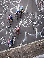 early breakaway group up the Keyzerberg<br /> <br /> Men Elite – Road Race (WC)<br /> Race from Antwerp to Leuven (268.3km)<br /> <br /> ©kramon
