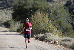 Half marathon runner Burton Hilton competes in the 8th annual Take it to the Lake race at Cave Lake State Park, near Ely, Nev., on Saturday, Sept. 21, 2019.<br /> Photo by Cathleen Allison/Nevada Momentum