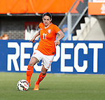 Nederland, Rotterdam, 20 mei 2015<br /> Oefeninterland voor WK Canada 2015<br /> Seizoen 2014-2015<br /> Nederland-Estland<br /> Danielle van de Donk van Nederland in actie met bal