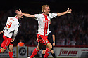 Jordan Burrow of Stevenage celebrates scoring their second goal<br />  Stevenage v Ipswich Town - Capital One Cup First Round - Lamex Stadium, Stevenage - 6th August, 2013<br />  © Kevin Coleman 2013