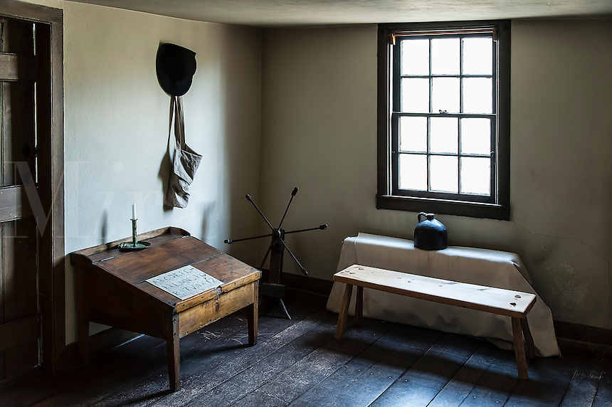 Historic American colonial house interior