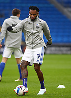 26th December 2020; Cardiff City Stadium, Cardiff, Glamorgan, Wales; English Football League Championship Football, Cardiff City versus Brentford; Leandro Bacuna of Cardiff City controls the ball during warm up