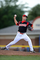 Batavia Muckdogs pitcher Max Garner (21) during a game against the State College Spikes on July 29, 2013 at Dwyer Stadium in Batavia, New York.  State College defeated Batavia 2-1.  (Mike Janes/Four Seam Images)