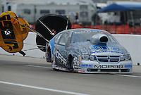 May 1, 2011; Baytown, TX, USA: NHRA pro stock driver Allen Johnson during the Spring Nationals at Royal Purple Raceway. Mandatory Credit: Mark J. Rebilas-