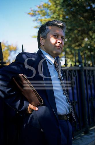 Bucharest, Romania. Businessman with briefcase.