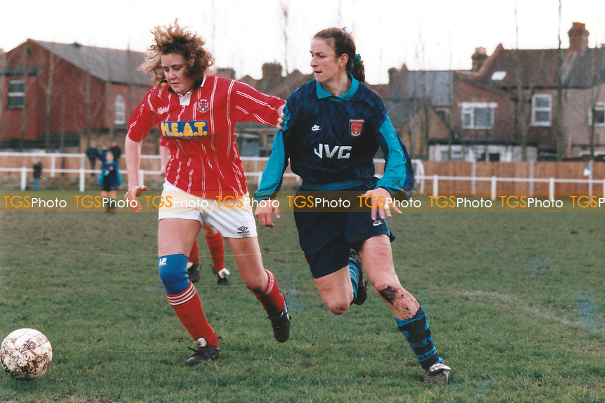 Marianne Spacey of Arsenal during Leyton Orient Ladies vs Arsenal Ladies, London FA Women's Cup Football at Wadham Lodge Sports Ground on 17th March 1996