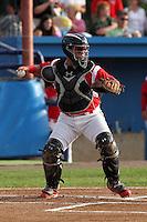 Batavia Muckdogs catcher Jesus Montero #55 during a game against the Auburn Doubledays at Dwyer Stadium on June 18, 2012 in Batavia, New York.  Auburn defeated Batavia 6-5.  (Mike Janes/Four Seam Images)