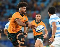 2nd October 2021, Cbus Super Stadium, Gold Coast, Queensland, Australia;  Wallabies #8 Rob Valetini. Australian Wallabies versus Argentina Pumas. Rugby Championship test match. Rugby Union. Gold Coast, Australia.