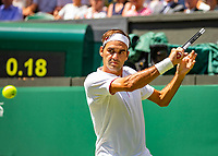 London, England, 2 th July, 2018, Tennis,  Wimbledon, Roger Federer (SUI)<br /> Photo: Henk Koster/tennisimages.com